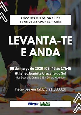 Avaliação do Econtro Regional de Evangelizadores do CRE1 em 08/03/2020